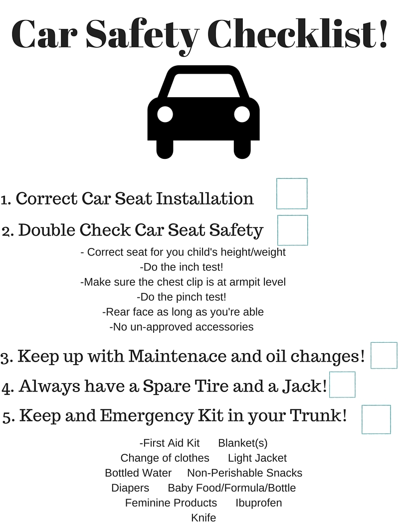 Car Safety Checklist go!od one