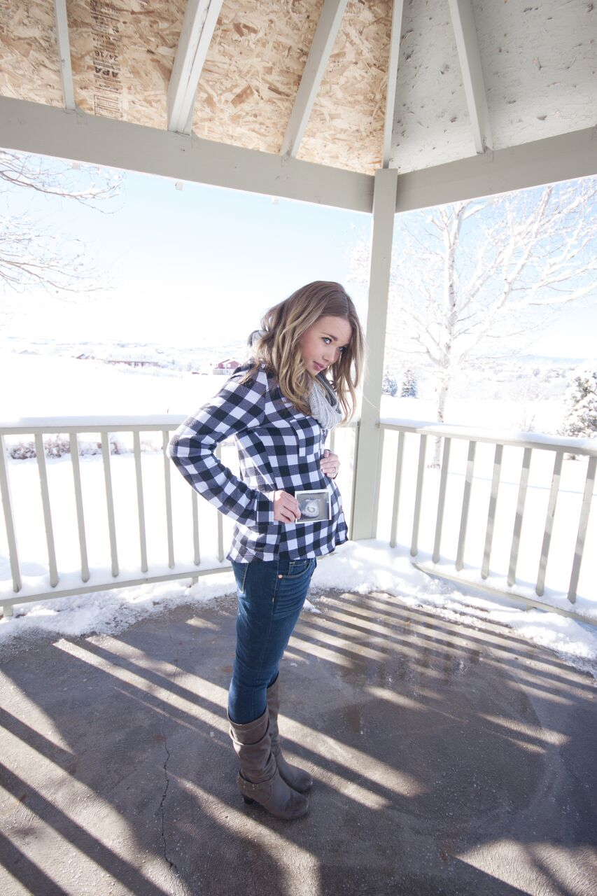 Pregnancy Announcement Ideas featured by popular Denver mom blogger, All Things Lovely