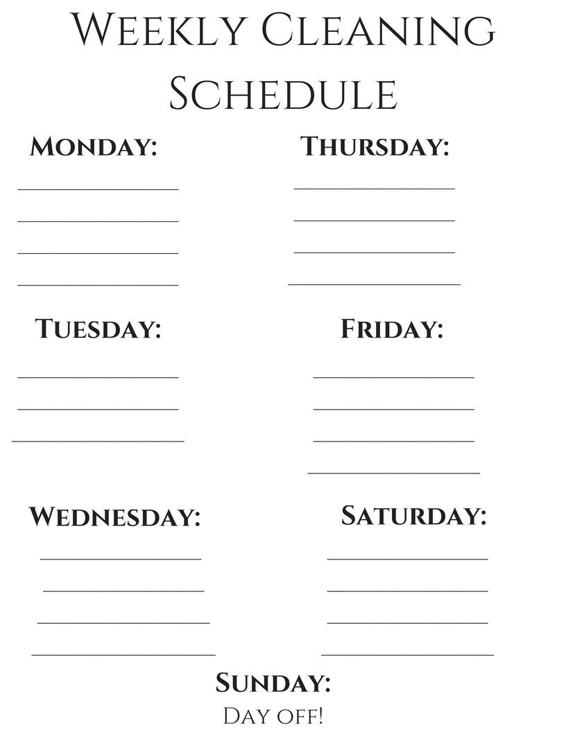 weekly-cleaning-schedulffffe | The Work at Home Mom Schedule featured by popular Denver life and style blogger, All Things Lovely
