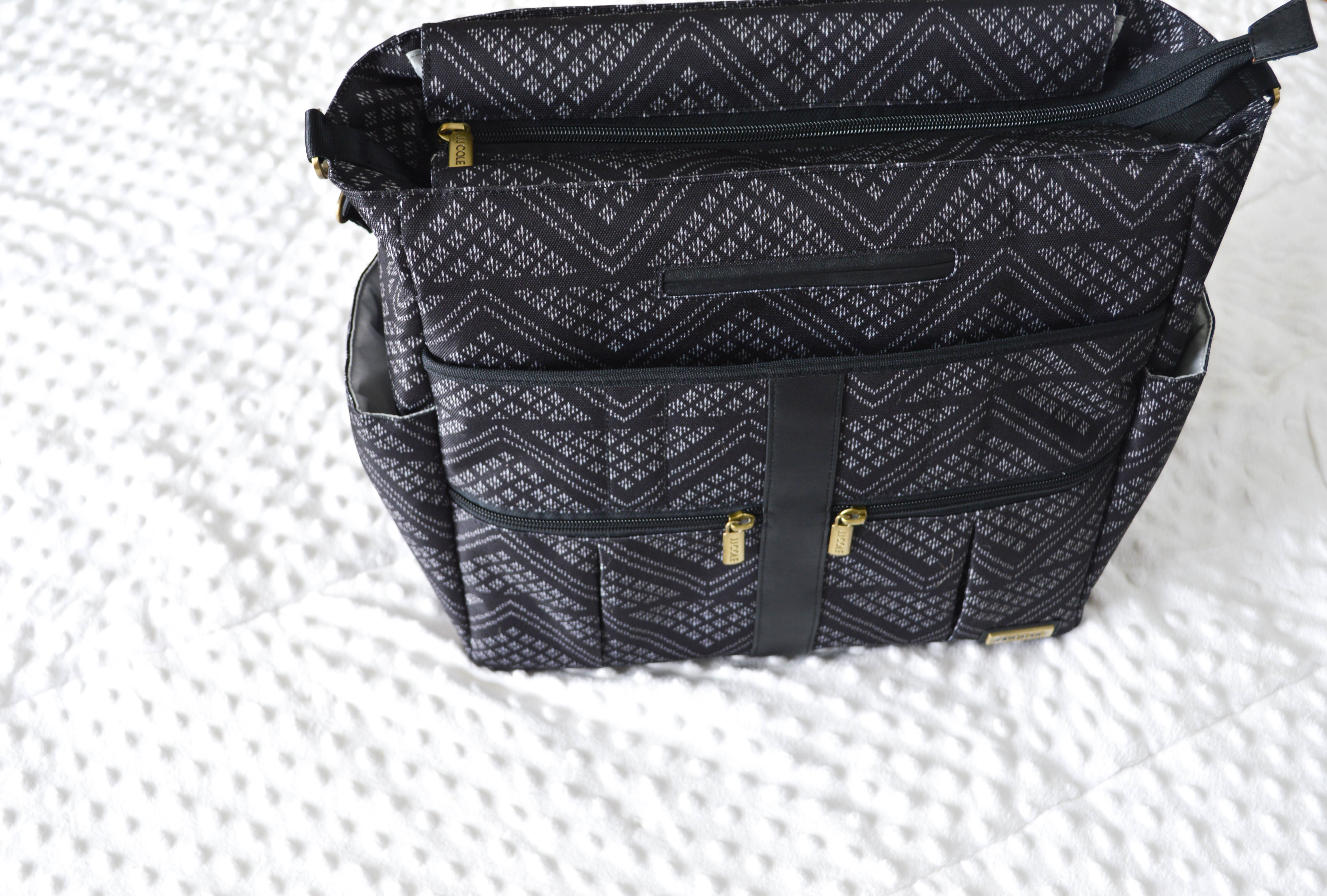 JJ Cole Backpack Diaper Bag review featured by popular Denver lifestyle blogger, All Things Lovely
