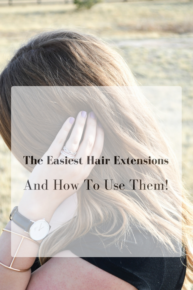 the ultimate guide to crown hair extensions featured by popular Denver life and style blogger, All Things Lovely