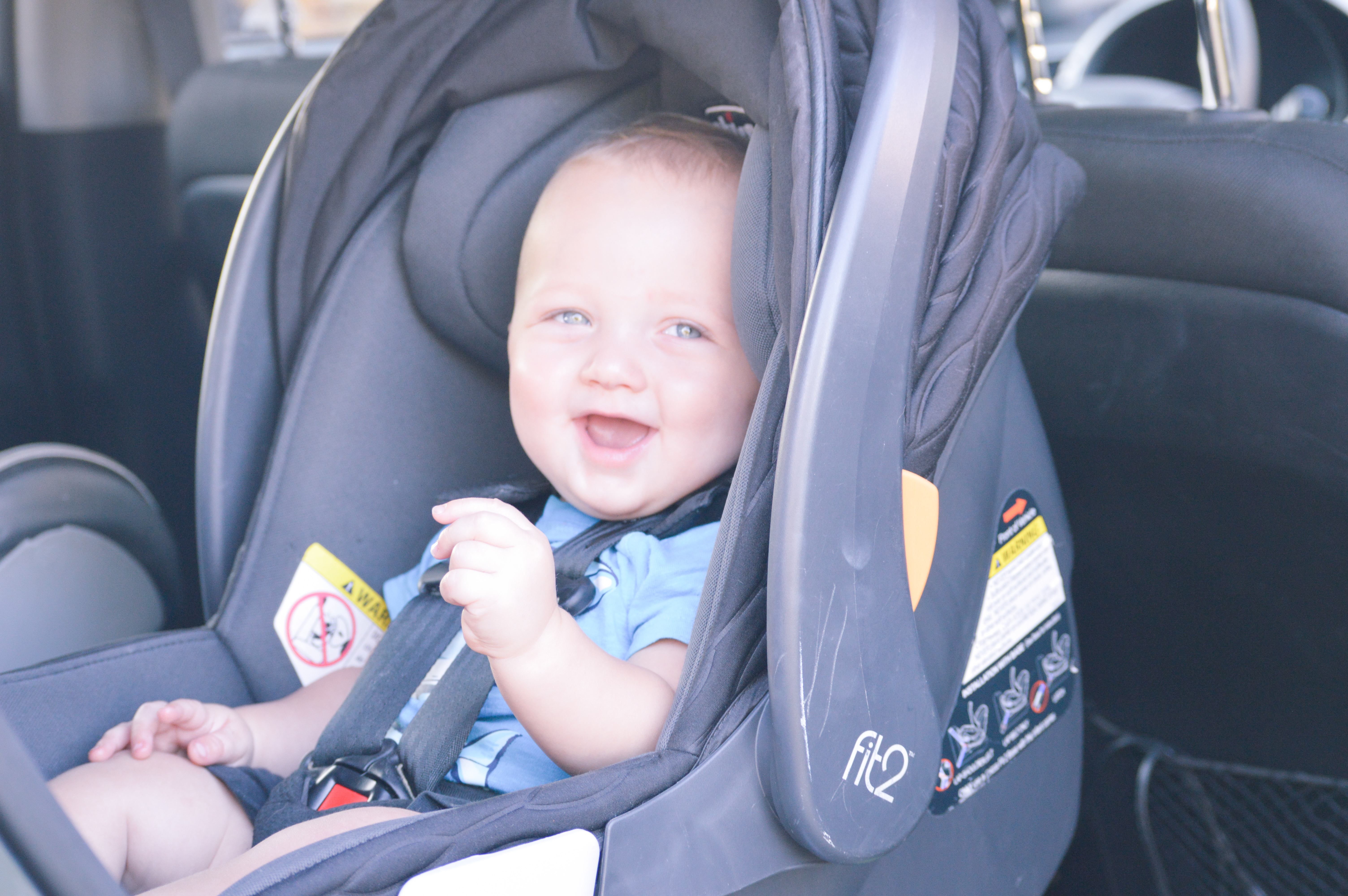 The Importance of Extended Rear Facing with Chicco Fit2 featured by popular Denver mom blogger, All Things Lovely
