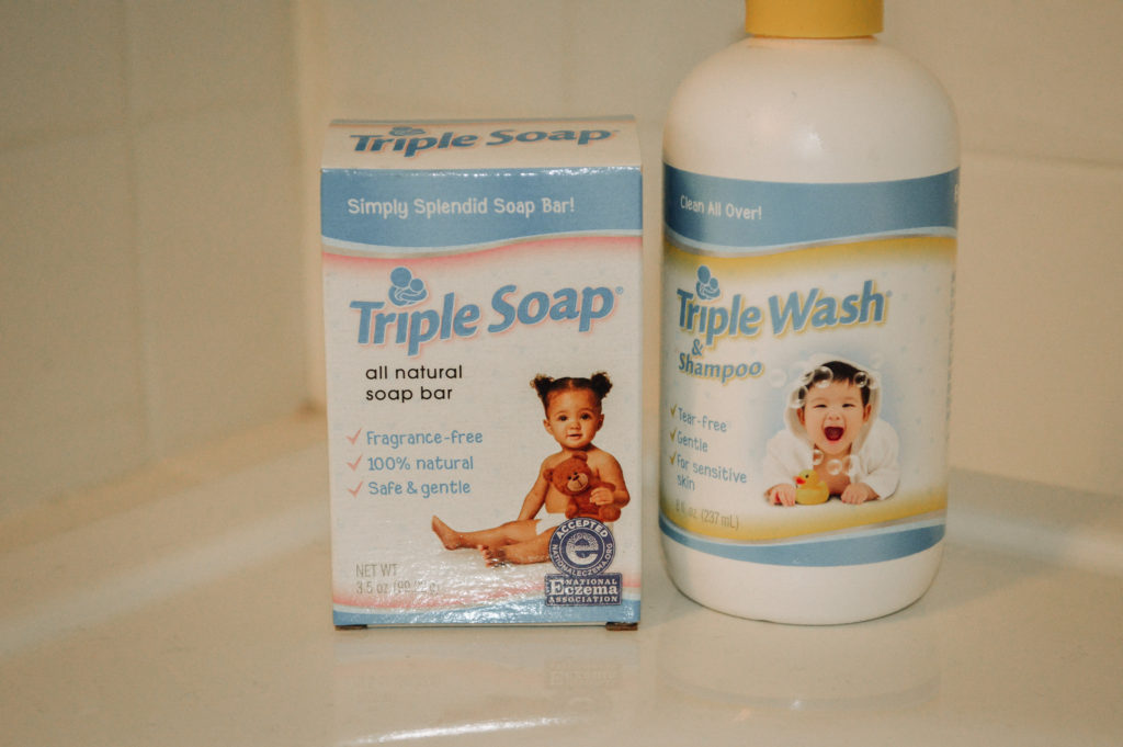 bath time with Triple Wash and Triple Soap featured by top US lifestyle blog, All Things Lovely
